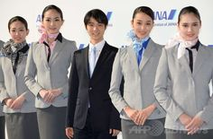 ANA制服一新、羽生選手が笑顔で紹介 国際ニュース:AFPBB News