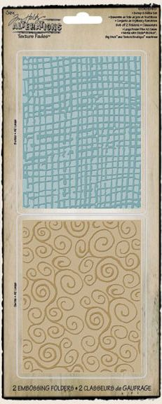 Sizzix - Tim Holtz - Texture Fades - Alterations Collection - Embossing Folders - Burlap and Swirls Set at Scrapbook.com $9.34