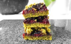 Superfood Blackberry Crumble Bars [Vegan] | One Green Planet