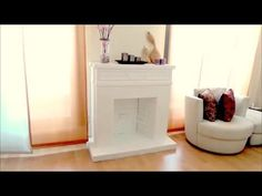 DIY CRAFTS: Decorative cardboard fireplace - Isa ❤️ AMAZING CRAFT!