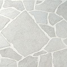 Crazy Pave Slate White Item Code: TERCOB11 Size: 300x300 #teranova #tiles #decor Stone Floor Texture, Tiles Texture, Garden Tiles, Garden Paving, Outdoor Stone, Outdoor Tiles, Maple Shade, Crazy Paving, Stone Landscaping
