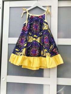 African print girl dress / beach dress /summer dress / swing dress for girls / holiday dress. Ankara dress for girls age - Summer Dresses Girls Holiday Dresses, Dresses Kids Girl, Kids Outfits, Dress Girl, Little Girl Summer Dresses, African Dresses For Kids, African Fashion Dresses, Dress Fashion, African Kids