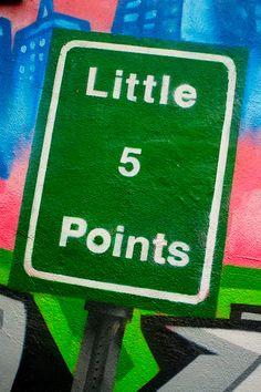 Little 5 Points Graffiti Sign in Atlanta, Georgia by Matt K. Lehman, via Flickr