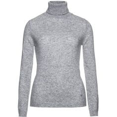 Benetton Turtle Necks (55 BRL) ❤ liked on Polyvore featuring tops, sweaters, grey, gray sweater, benetton sweaters, wool turtleneck sweater, high neck sweater and wool turtleneck