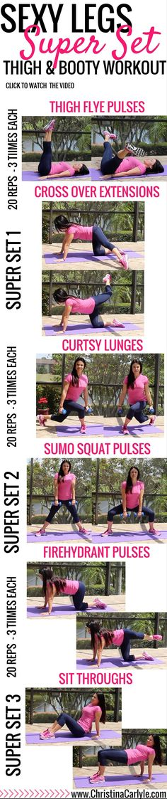 Leg workout for women - burn thigh and leg fat with this calorie burning at home leg workout thats perfect for busy women that want to exercise their legs at home. Pilates Workout, Fitness Workouts, Fitness Motivation, At Home Workouts, Pilates Reformer, Lifting Motivation, Hiit, Leg Workout Women, Best Leg Workout