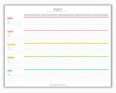 My Strawberry Baby: Free Printable Weekly Lesson Plan Template