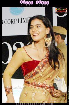 Kajol Choli Designs, Saree Blouse Designs, Indian Bollywood, Indian Sarees, Bollywood Actress, Tribal Fashion, Indian Fashion, Women's Fashion, Kajol Saree