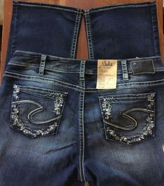 044fda83454 Silver Jeans Well Defined Curve DENIM Suki Slim Boot SZ 20W 42 X 31  98 NEW