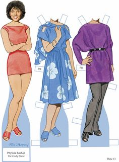 This book has paper dolls of TV stars that have not had their own books done. There are some terrific people here.  I am showing a couple of samples. There are 17 dolls and 34 outfits. You can orde…