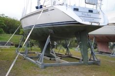 In the wake of Gonzalo a well cradled yacht - http://www.admiralyacht.com/admiral-news/admiral-latest-news-item.php?newsID=146 #YachtInsurance