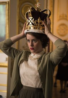 Big break: The Manchester native is set to start in new Netflix series The Crown as a young Queen Elizabeth II (above)