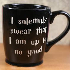 I Solemonly Swear Harry Potter Inspired sandblasted Ceramic Coffee Mug, tea glass on Etsy, $20.00