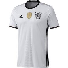 Das offizielle Deutschlandtrikot zur Europameisterschaft 2016 in Frankreich  von Adidas Playeras De Futbol 2ea6f42770c34