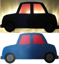 Nchtlicht / Schlummerlampe kleines blaues Auto zwergliland.ch