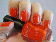 """Kiko Nail Polish in 357 """"Bright Orange""""."""