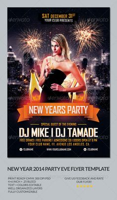 new year party flyer template graphicriver new years party this flyer template was designed