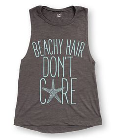 d3e3a31c74010 LC Trendz Junior s Asphalt  Beachy Hair Don t Care  Flowy Muscle Tank -  Women