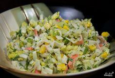Крабовый салат с пекинской капустой