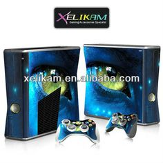 Colorful skin for Xbox360 slim console skin sticker for Xbox 360 console skin protective cover