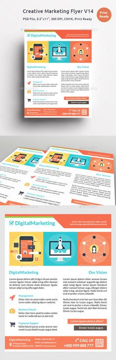 Creative Marketing Flyer V5 | Marketing Flyers, Edit Text And Creative