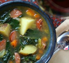 potato and kale soup with andouille | healthy seasonal recipes