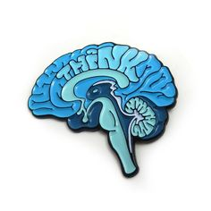A colorful little reminder to use your brain! Designed by professional medical illustrator Rachel B Stork Stoltz of Anatomical Element. The enamel pin features an original illustration of an anatomica