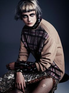 punk attitude: frida gustavsson by steven pan for flair #6 fall 2013