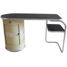 """A 1930's """"Frankfurter"""" desk Designed by Mauser"""