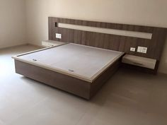 # bed front drawer white and wood contrast design and made by me # Karan jangid - Salvabrani