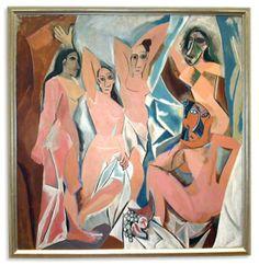 Les demoiselles d'Avignon, 1907, Picasso (1881-1973), huile sur toile (243× 233 cm). Museum of Modern Art, New-York.