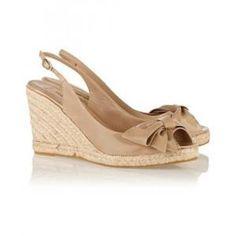 40% off Valentino - Wedge Sandals Mena Espadrille Slingback Patent-Leather - $285
