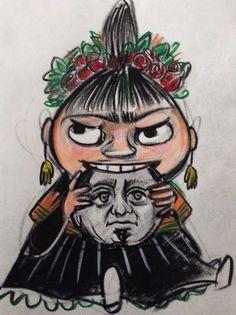 10 Tuesdays. 10 Fridas. Frida No.10: Moomin Frida.   Katarina Thorsen Art Blog