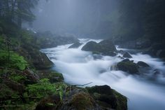 "Torrent de Sales, Haute-Savoie, France Photo ""Misty morning"" par ©DominiqueMerot on 500px"