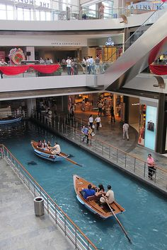 Marina bay sands shopping centre - only high end stores. Didn't u guess when u see a canal within the mall ? :o a canal !!!!!! :o ;)