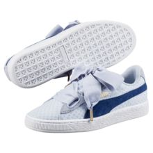 The New PUMA Basket Heart DE Is Topped With a Cozy Knit Bow