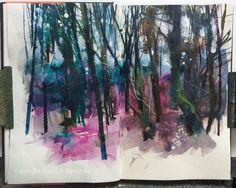 @davidparfittRI Day 27 #DrawingAugust @StillmanandBirn gamma series sketchbook, working stuff out no.2, #mixedmedia