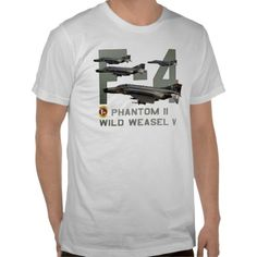 F-4 Phantom II Wild Weasel Aircraft T-shirt and Military Aircraft Gifts.