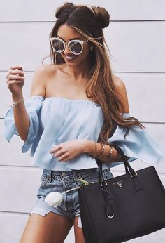 #summer #young #girls #outfits   Shades Of Blue