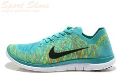 reputable site d1685 060ad 2015 Authentic 2015 Authentic Nike Free II Flyknit Mens Running Shoes For  Sale Green Black Logo Nike Free Men For Sale