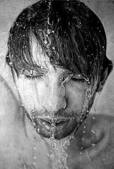 Fotoğraf değil kara kalem. Ressam Paul Cadden