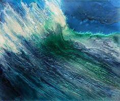 """Saatchi Art Artist Lia Melia; Painting, """"The Big Blue"""" #art"""