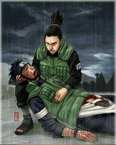 Assuma and Shikamaru Naruto Sad, Naruto Free, Anime Naruto, Anime Manga, Hinata