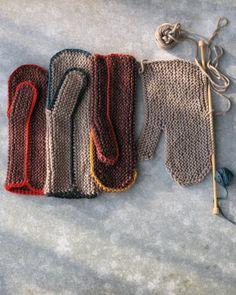 Cozy mittens - knit FLAT!