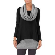Phase Eight Black and Grey clementine contrast jumper- at Debenhams.ie