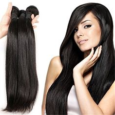 BLISS HAIR 100 Virgin Brazilian Plus Remy Hair Weave Straight Hair Extensions Bundle 24inch >>> You can find out more details at the link of the image.
