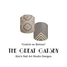 "The Great Gatsby:  If you want to get these beauties of your fingers and toes, head on over to my Jamberry Nail Art Studio Marketplace!  Simply click on the image above and it will direct you right to the listing!  To see more of my designs and some special sales, join my Facebook group ""Kim's Nail Art Studio Designs"" at www.facebook.com/groups/925106354278688 Thanks for the interest in my designs!"