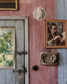 lunchlatte: Charleston House, Sussex, home of artists Vanessa Bell and Duncan Grant Vanessa Bell, Interior Garden, Home Interior Design, Interior And Exterior, Interior Sketch, Interior Door, Meas Vintage, Sussex Gardens, Duncan Grant