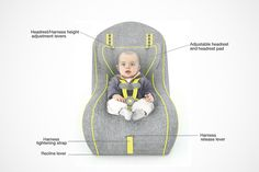 baby car seat on Behance