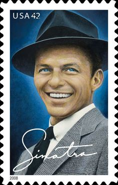 10 Frank Sinatra Postage Stamps // Rat Pack Singer Old Blue Eyes // Unused Postage Stamps for Mailin Motif Music, Franck Sinatra, Going Postal, Stamp Collecting, Postage Stamps, Blue Eyes, Movie Stars, The Best, The Voice