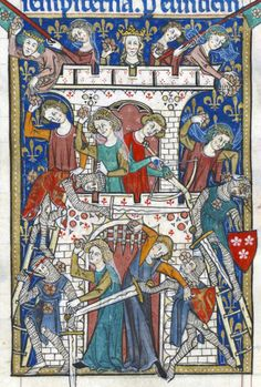 Illuminations from the Peterborough Psalter, 1300-1325 England